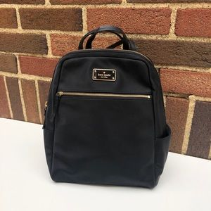 Kate Spade Black Nylon Backpack